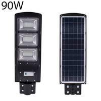 방수 IP67 90W 태양 LED 거리 조명 램프 빛 레이더 + PIR 모션 센서 야외 벽 램프 프리 정원 빛 180led