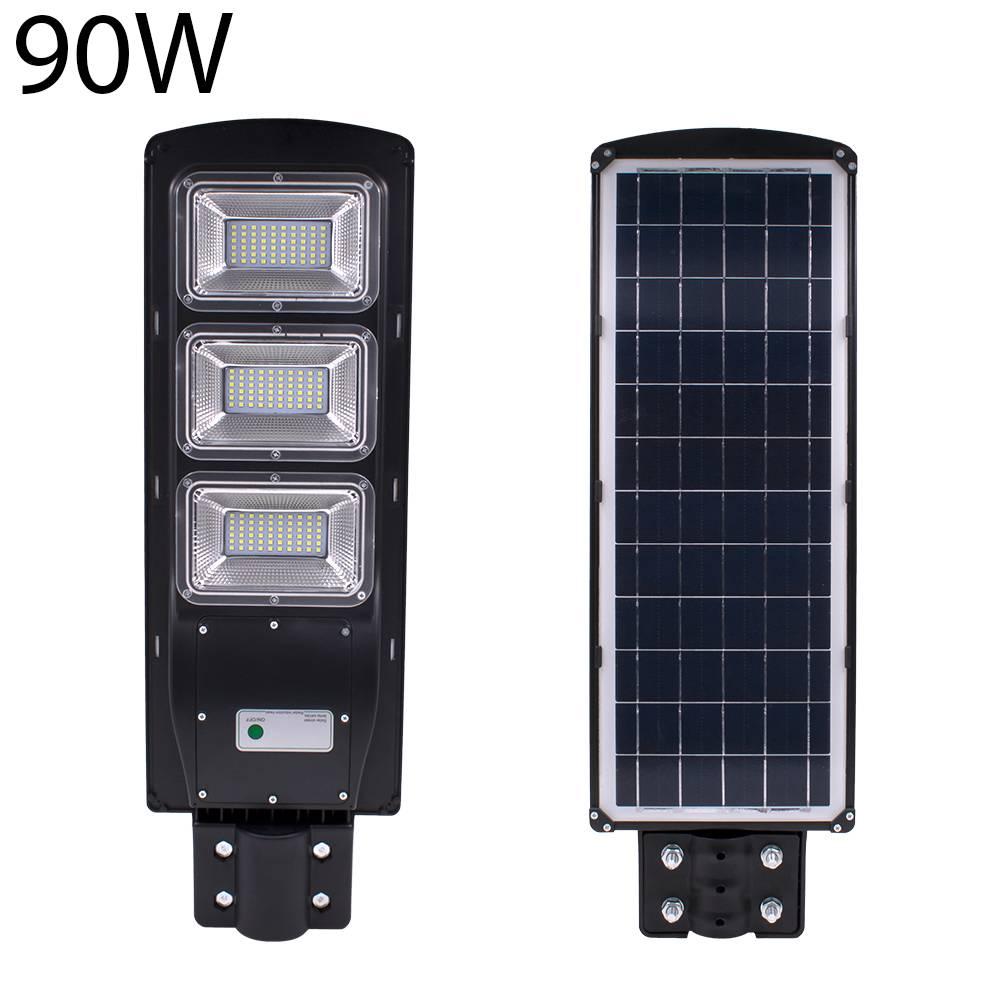 Waterproof IP67 90W Solar LED Street Light Lamps Light Radar + PIR Motion Sensor Outdoor Wall Lamp Landscape Garden Light 180led