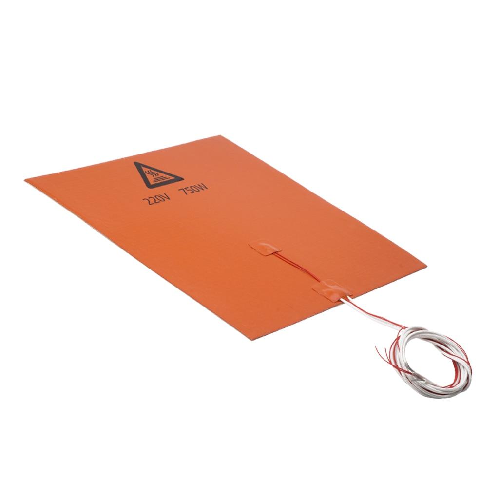 750 W/220 V 300*300mm Aquecedor Silicone Almofada da Esteira do Aquecimento Cama Quente Para 3D Printer Heatbed cama Calor Impressora de Silicone
