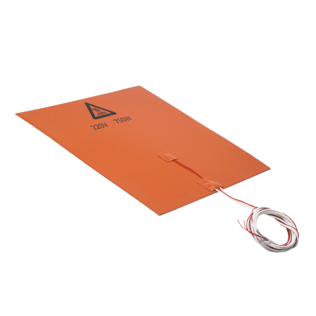 750W/220V 300*300mm Silicone Heater Pad Heating Mat Hot Bed For 3D Printer Heatbed Silicone Printer Heat bed