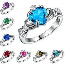 1debb1a13ad2 1ct blanco ópalo de fuego de plata 925 irlandés Claddagh anillo de  compromiso de boda de