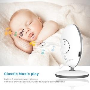 Image 3 - BESDER VB605 Wireless Video Baby Monitor 2,4 zoll Mini Kamera 2,4 GHz Intercom Temperatur Überwachung Nachtsicht Musik Player