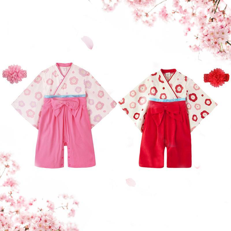 Mädchen Kleidung Der GüNstigste Preis Japanischen Baby Mädchen Kleidung Strampler Kinder Tragen Mädchen Sommer Langarm-babyspielanzug Bogen Overall Mit Headwear Blume NüTzlich FüR äTherisches Medulla