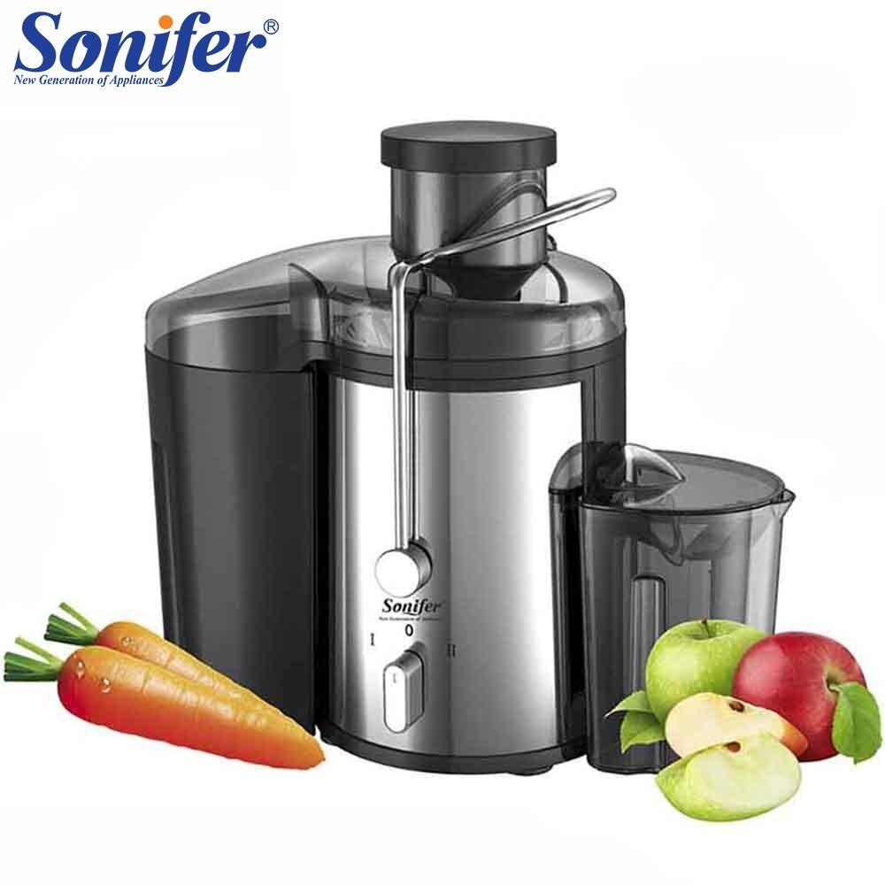 220 V de acero inoxidable exprimidor 2 velocidad eléctrico Extractor de jugo de frutas máquina de beber para casa Sonifer
