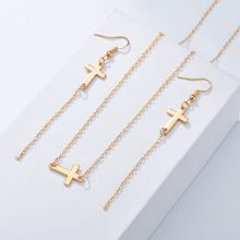 New Big Promotion Great Elegant Cross Design For Women's Jewelry Sets Popular Style High Quality Engagement Jewelry Sets(China)