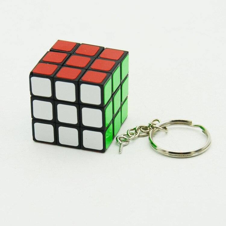 Lefun  3cm Key Buckle Magic Cube Black Children Intelligence Alpinia Oxyphylla Toys Cheap Toys