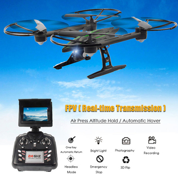 Clearance! JXD 510G 5.8G FPV 2.0MP Camera 2.4GHz 4CH 6 Axis Gyro RC Quadcopter Barometer Set Height One Key To Return RC Toys
