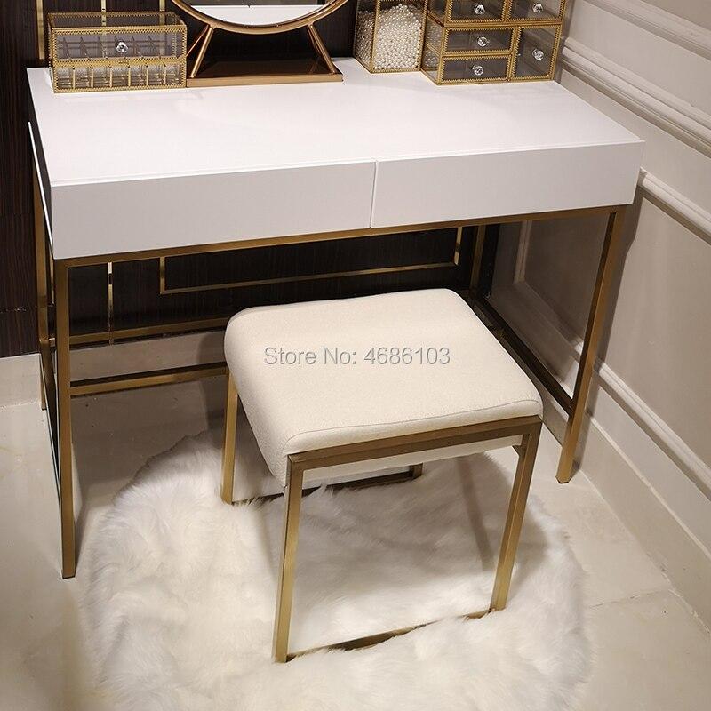 2019 Marke Neue Square Luxury Kosmetische Gold Metall Stuhl Haus Möbel Nordic Möbel Stühle Moderne Möbel