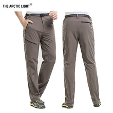 THE ARCTIC LIGHT Outdoor Camping & Hiking Pants Men Summer Thin Quick Dry Pants Climbing Trekking Trousers Male Easy Elastic стоимость