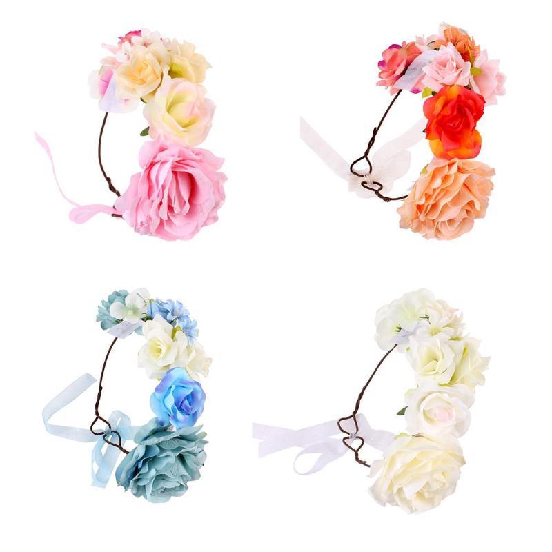 Имитация детской Цветочная эластичная повязка на голову гирлянды на День святого Валентина