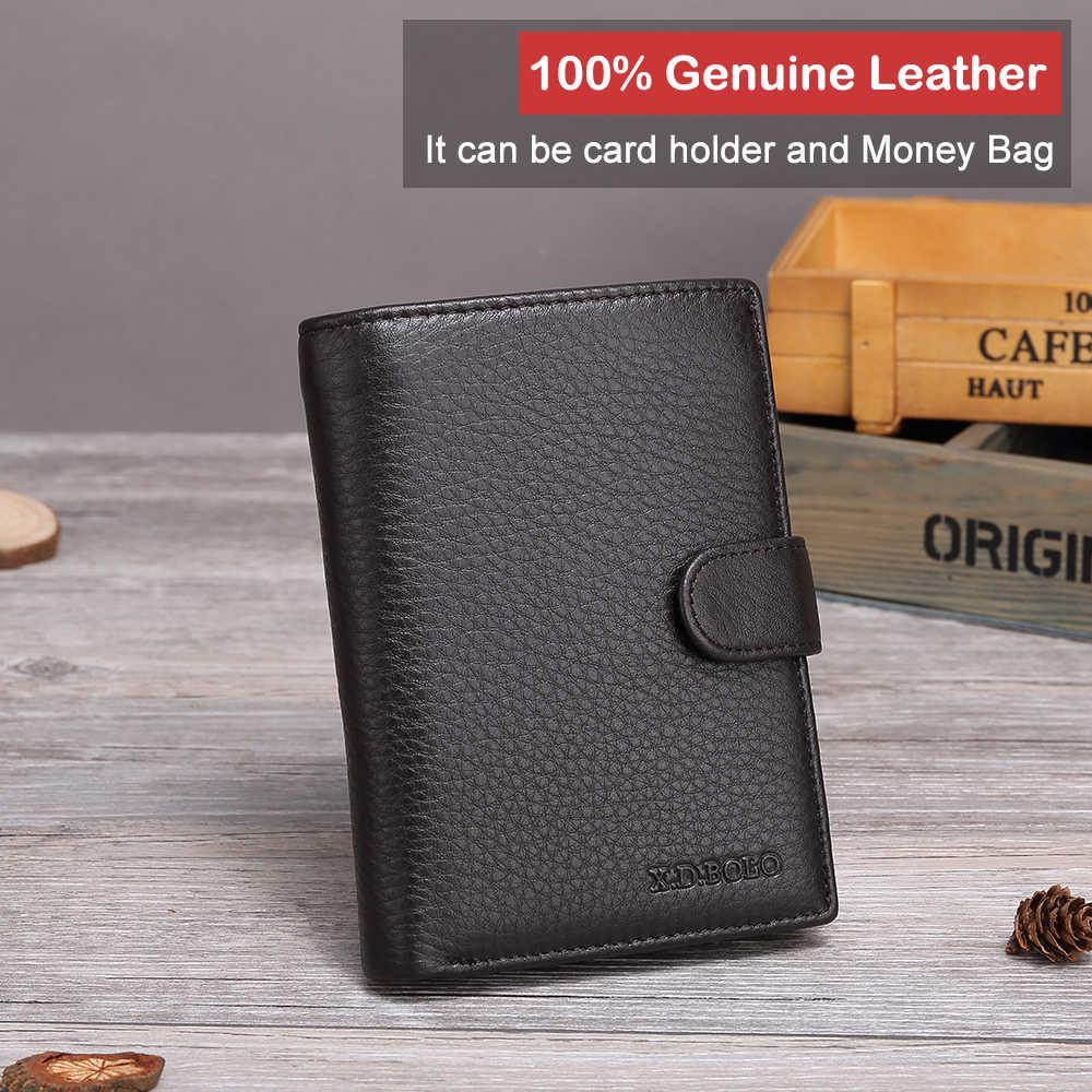 X. D. BOLO кошелек из натуральной кожи для мужчин кошелек барсетка Walet Portomonee мужская сумка для Денег Визитница кошельки для мужчин