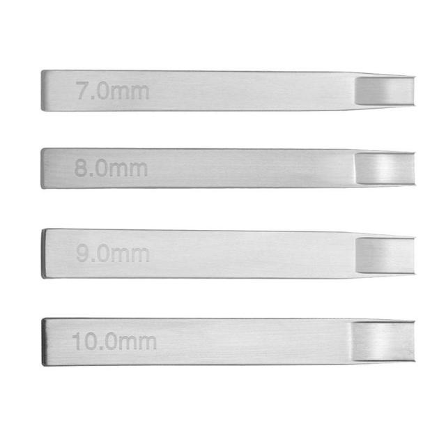 7 8 9 10mm Leather Tools Stainless Steel Leathercraft Belt Woven Pattern Weaving Slot Cutter Leather Craft Punch