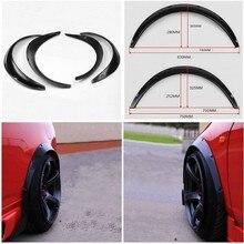 4x 黒ユニバーサルフェンダーフレア柔軟な耐久性のあるポリウレタンボディキット車体ホイール眉毛フェンダーフレア柔軟な耐久性のある