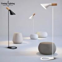 Современный пост современный AJ дизайн Louis Арне Якобсен торшер черный/белый металл стенд свет для Гостиная/Спальня E27 светодиодный лампы