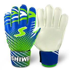 Teenager's Gloves Latex Goalie Gloves Breathable Soccer Gloves Finger Protection