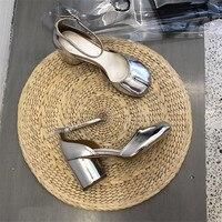 Женские туфли mary janes из лакированной кожи на высоком каблуке, с круглым открытым носком, с ремешком на щиколотке, с пряжкой, для вечеринок, дл