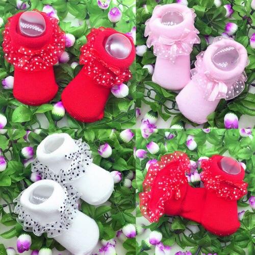 Brand New Baby Girls Princess Tutu Lace Socks Newborn Infant Frilly Sock Cotton Short Socks Baby Accessories