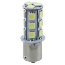 4X White 1156 P21W BA15S R10W 18 LED 5050 SMD Tail Brake Signal Side Light Bulb