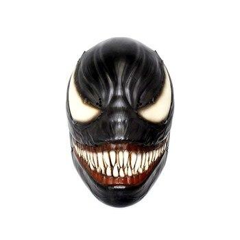 Deluxe veneno máscara de Halloween del traje de Cosplay Edward Brock oscuro superhéroe veneno máscara resina casco fiesta de Halloween Accesorios