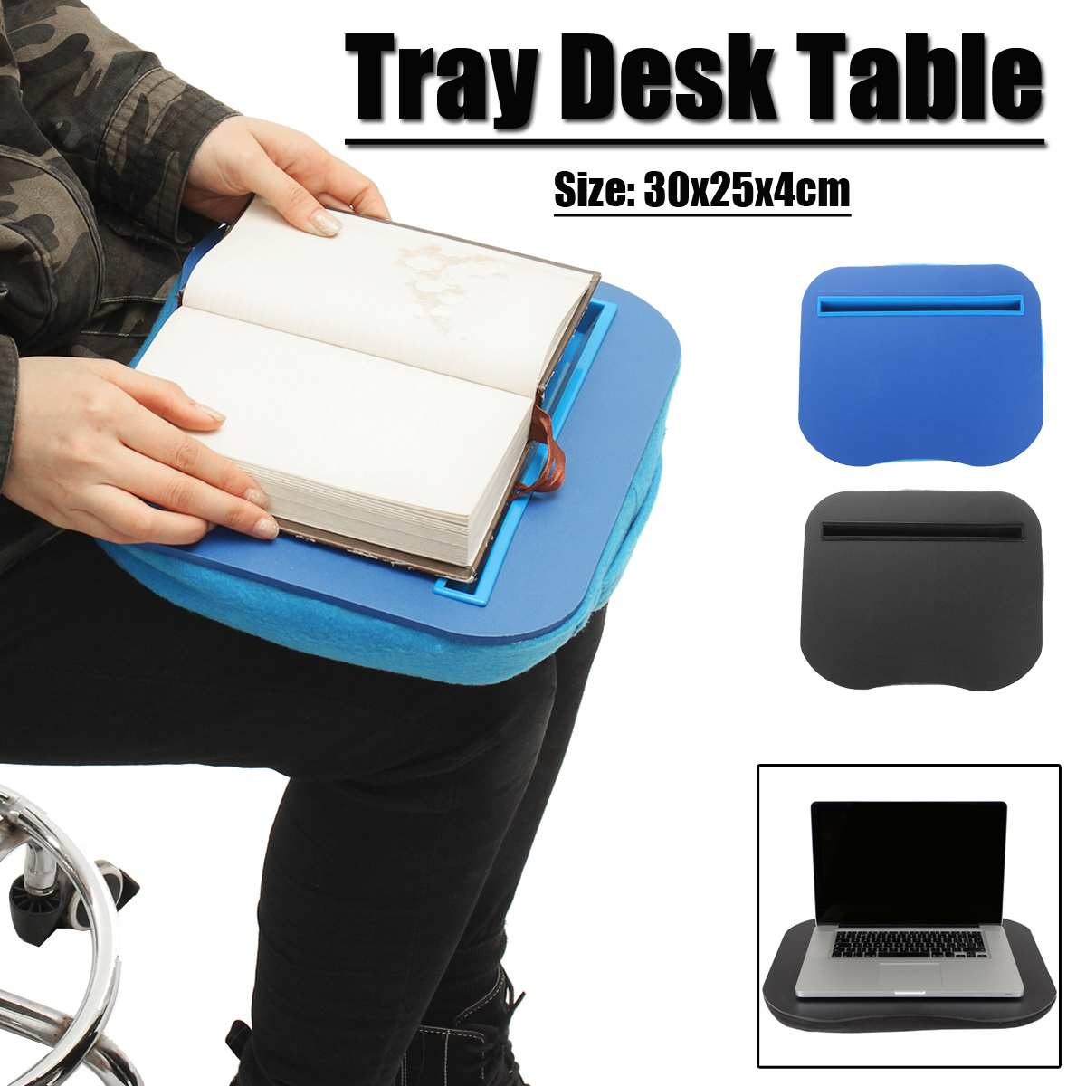 Portable Knee Desk For Laptop/Macbook For IPad Tablet Laptop Phone Book Holder Laptop Stand Reading Office Pilliow Cushion Desk