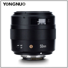 YONGNUO YN50mm F1.4N E תקן ראש עדשת 50mm F1.4 גדול צמצם עבור ניקון D5 D4 D3 D810 D800 D750 d300 D7100 D7000 D5600 וכו