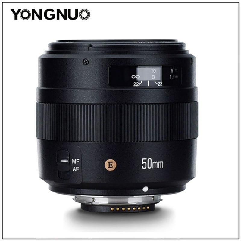 YONGNUO YN50mm F1.4N E Standard Prime Lens 50mm F1.4 Large Aperture For Nikon D5 D4 D3 D810 D800 D750 D300 D7100 D7000 D5600 etcCamera Lens   -