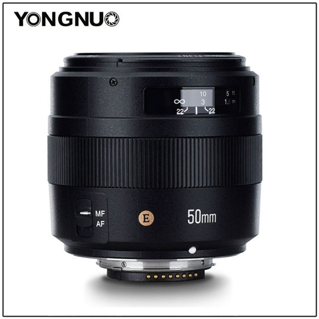 YONGNUO YN50mm F1.4N E Standard di Primo Obiettivo 50mm F1.4 Grande Apertura Per Nikon D5 D4 D3 D810 D800 D750 d300 D7100 D7000 D5600 ecc