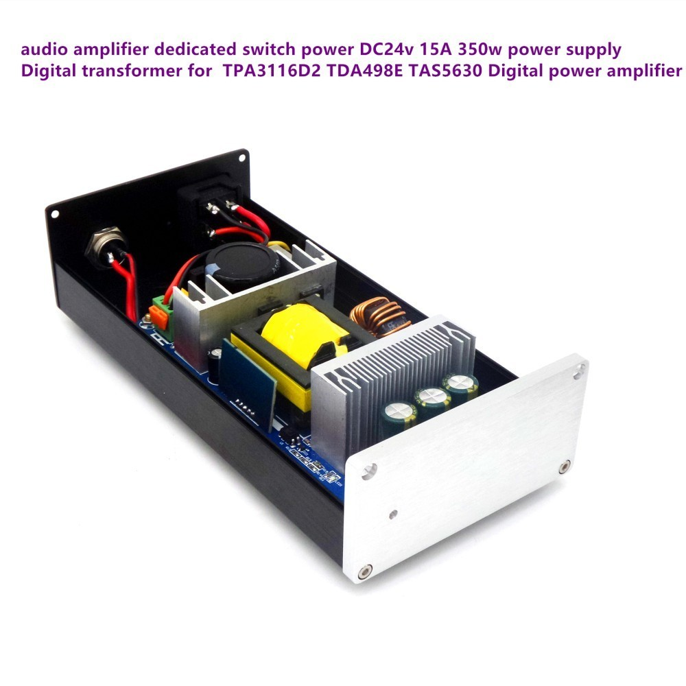 350w DC 24V 15A High power regulated Filter DC Power switch adapter for TDA7498 TPA3116 TPA5613