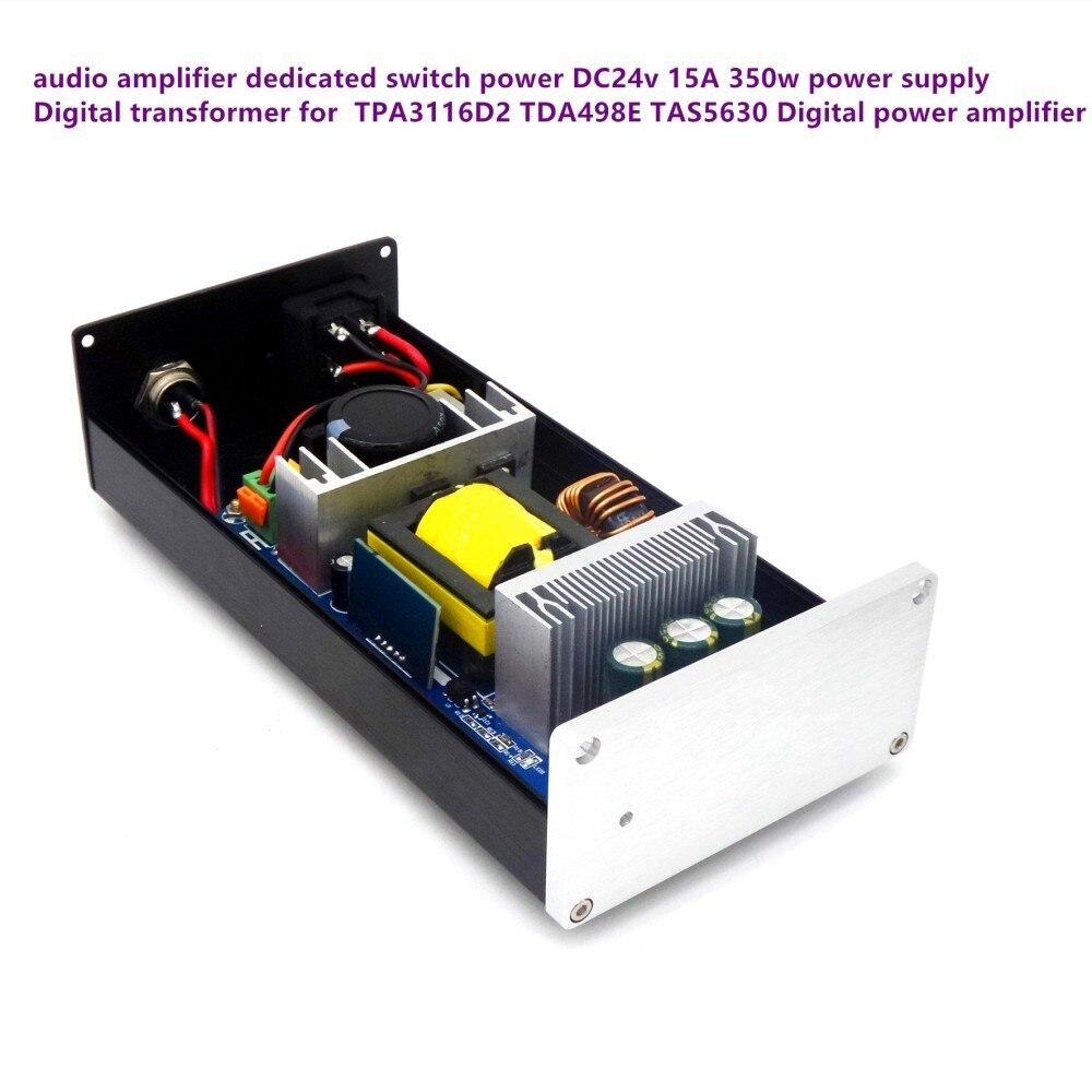 350 w DC 24 V 15A Forte puissance réglementé Filtre DC interrupteur D'alimentation adaptateur pour TDA7498 TPA3116 TPA5613 Numérique amplificateur audio-in Adaptateurs AC / DC from Electronique    1