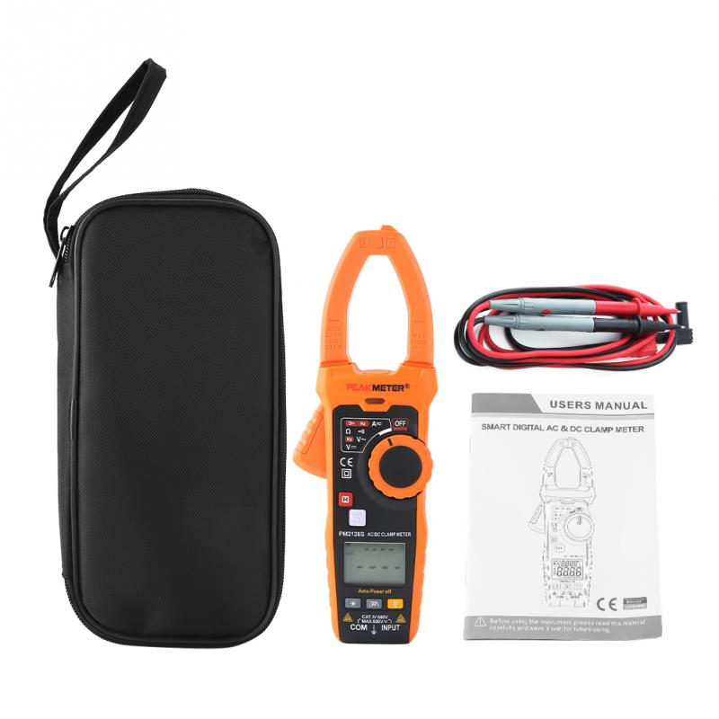 PEAKMETER AC DC clamp meter PM2128S Handheld Non contact Digital Voltage Current Clamp Meter Electrical measure