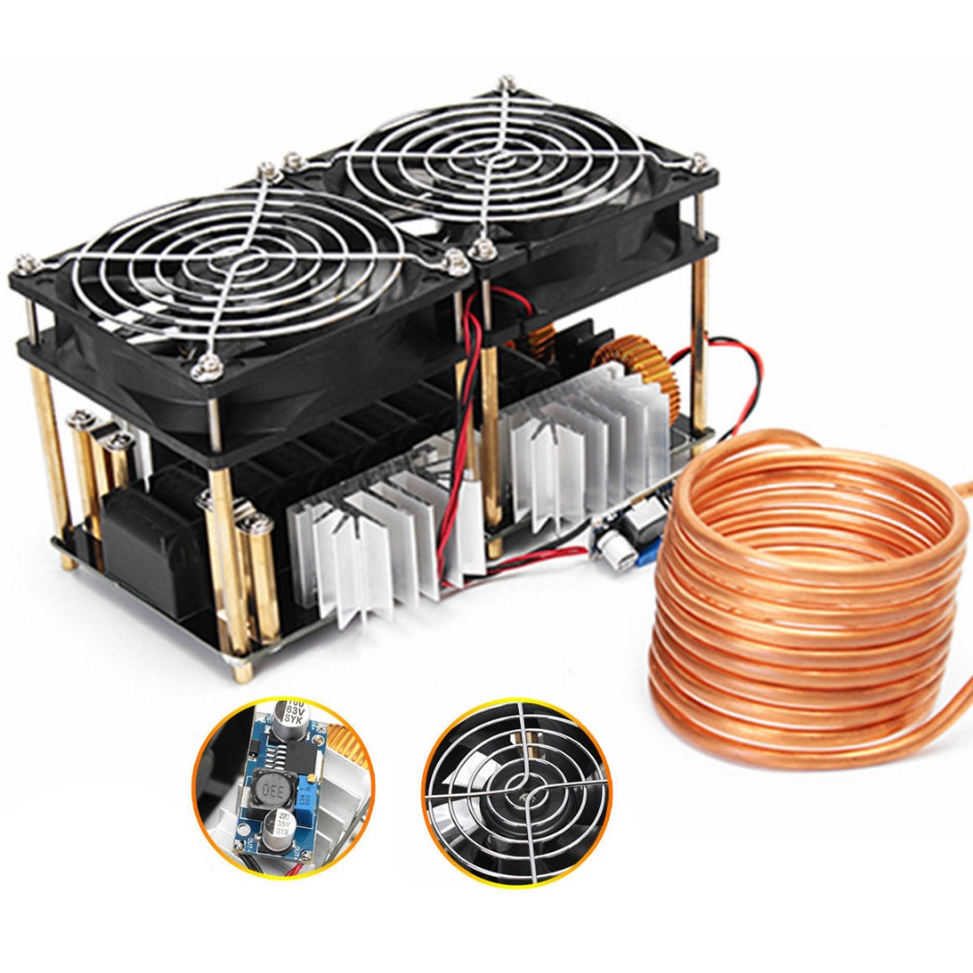 1800W ZVS Induction Heating Board Module Induction Heating Board Flyback Driver Heater 180*90*80mm & Tesla Coil 1800w zvs induction heating board module flyback driver heater good heat dissipation 180 90 80mm with coil