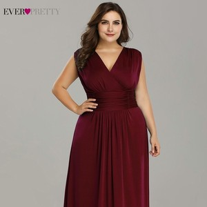 Image 5 - Plus Size Mother Of The Bride Dresses Ever Pretty V Neck A Line Chiffon Brides Mother Long Dresses For Weddings Farsali 2020
