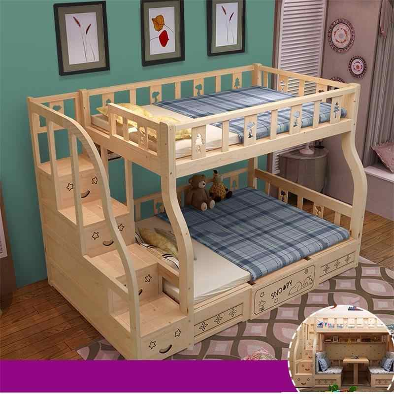Single Yatak Odasi Quarto Room Dormitorio Kids Recamaras Mobilya Letto Moderna Mueble Cama bedroom Furniture Double Bunk Bed