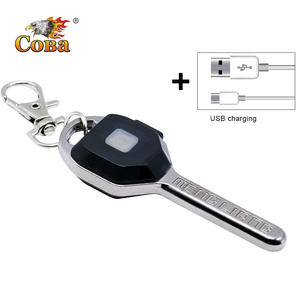 Coba mini LED flashlight Keychain light Portable key lanterna small torch 2 modes outdoor glare USB rechargeable