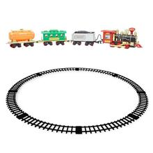 Dynamic Steam RC Track Electric Train Simulation Train Model Toys Kit Electronic Components Classic Toy for Child Birthday Gifts