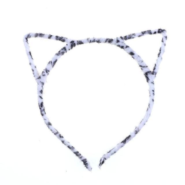 เด็กหญิง Headband เสือดาวแฟชั่นเซ็กซี่แมวหูผมจัดแต่งทรงผม Headwear Head Wrap ผม Accessorise เครื่องแต่งกายแฟชั่น