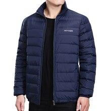 Jaqueta de inverno dos homens casaco 2019 pato branco para baixo leve jaqueta casual outerwear neve quente gola marca masculino casaco de penas parkas