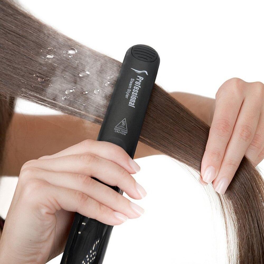 Professional Steam Hair Straightener Ceramic Vapor Hair Flat 450F Ceramic Vapor Steam Hair Straightener