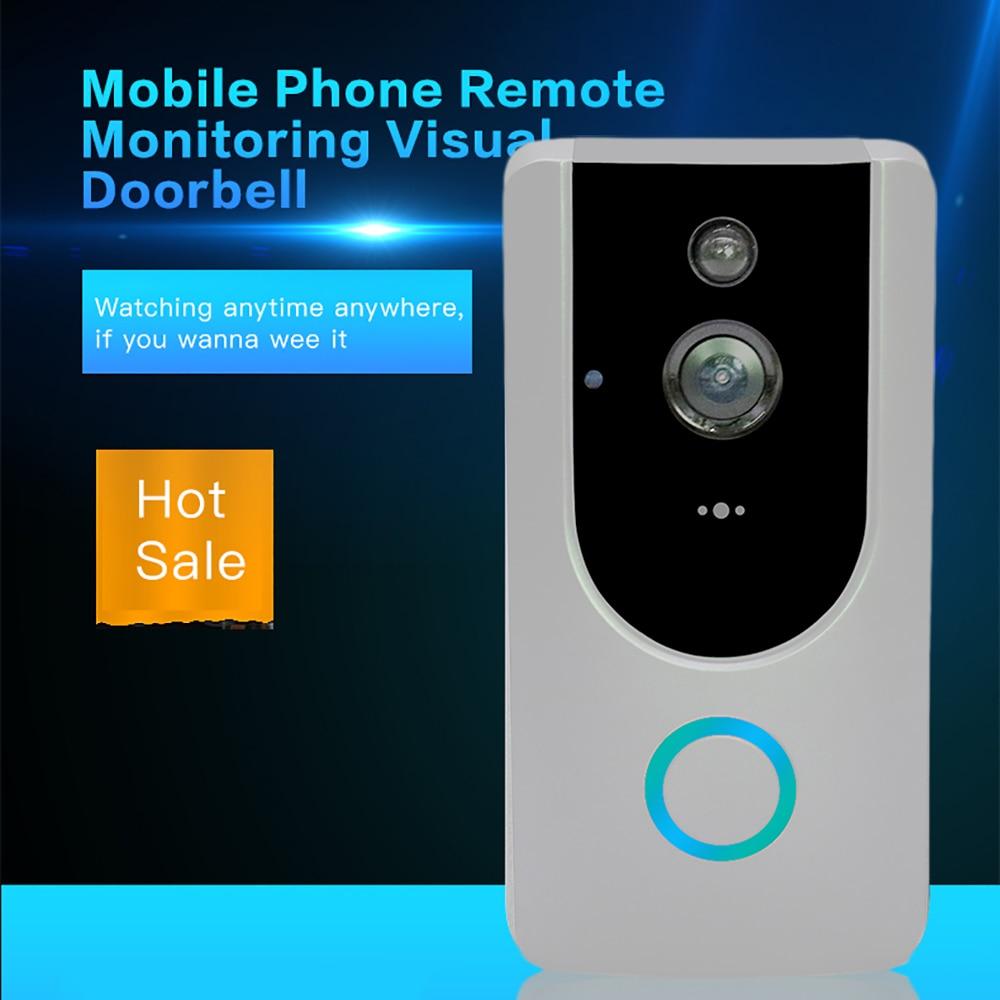 Smart WiFi porte anneau HD Vision Wirekess interphone sonnette RIP moniteur de mouvement Camare vidéo SD carte enregistrement maison sonnette anneau