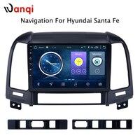 Android 8,1 9 дюймов, автомобильный, мультимедийный gps 2 ГБ 32 ГБ Радио стерео для hyundai Santa Fe Tucson 2005 2012 Автомобильный видео навигация