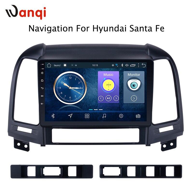 Android 8.1 9 inch Car Multimedia GPS 2GB 32GB Radio Stereo For Hyundai Santa Fe Tucson 2005 2012 Car Video Navigation