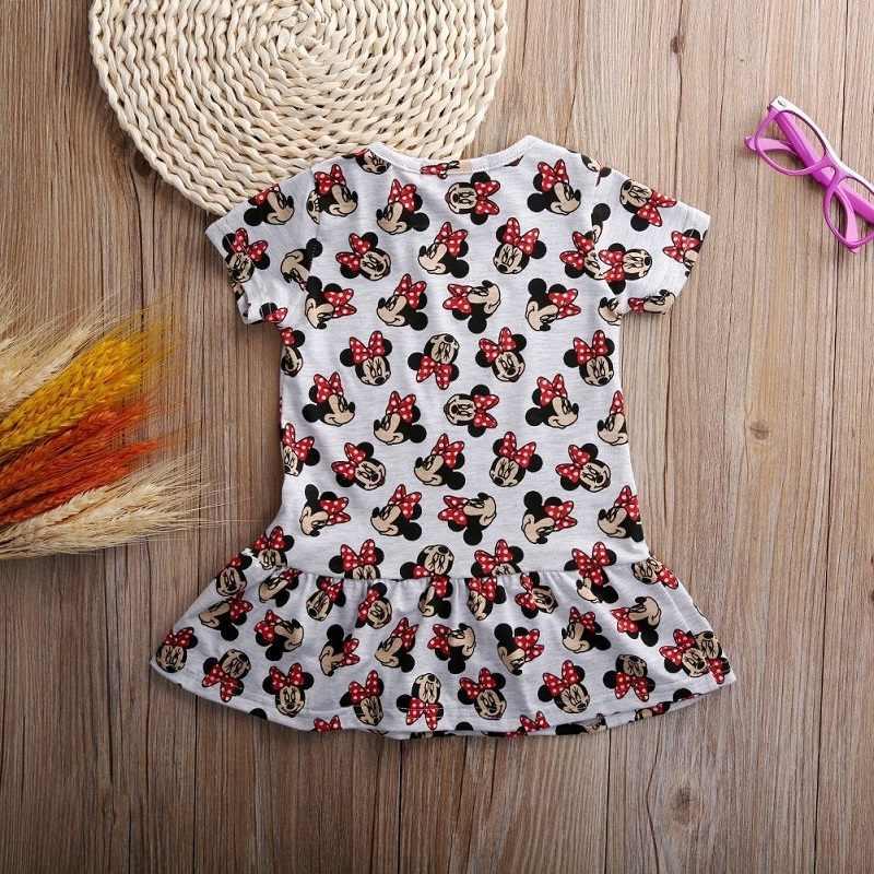 e8b5718ce4e ... 2016 летние детские платье для девочки в полоску платья принцессы  костюм с мышкой из мультфильма детская