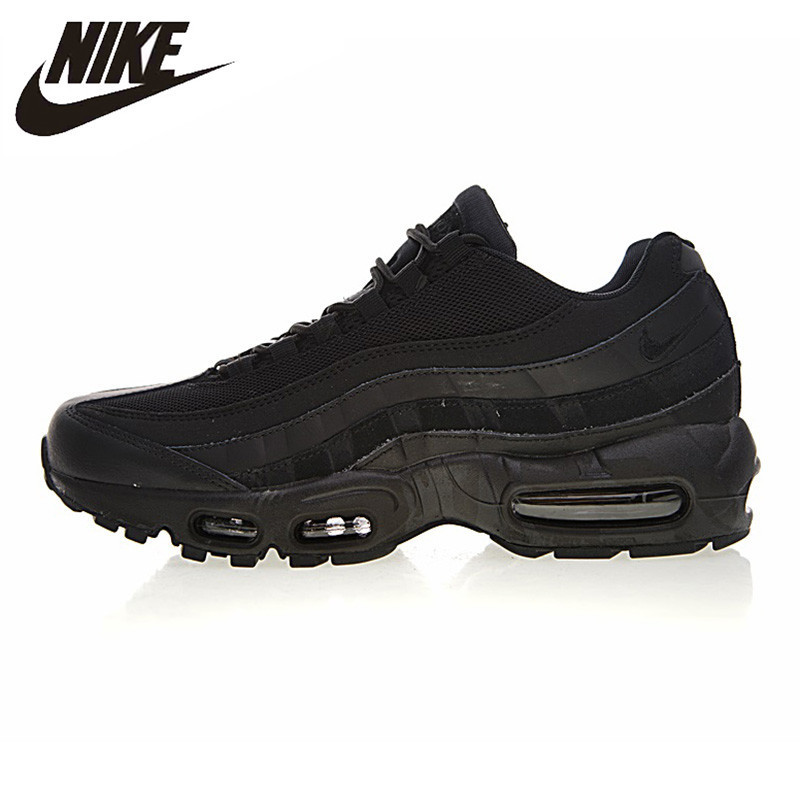 online store ffff3 0c539 US $100.98 67% OFF|Nike Air Max 95 Men's Running Shoes Shock absorbing Non  slip Sport Shoes Wear Resistant Outdoor Cushioning Sneakers #749766 009-in  ...