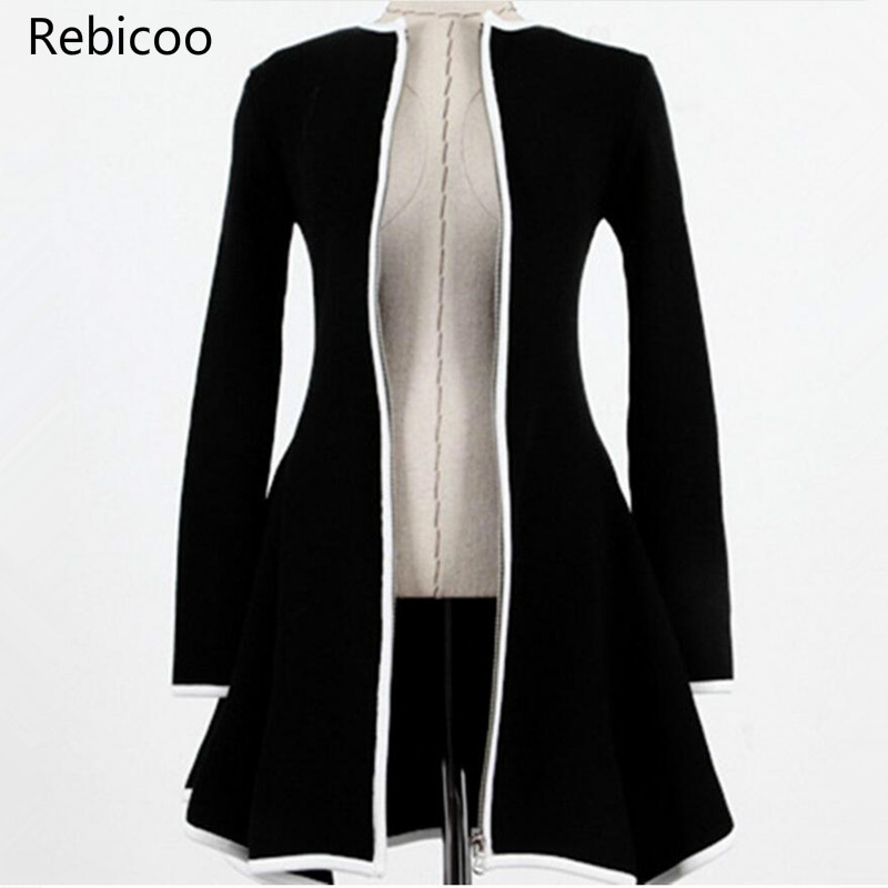 Cardigan White Black Women  Femme Pull Sweater Coat Womens Sweaters Fashion Autumn Long Sleeve Ladies Casaco Feminino