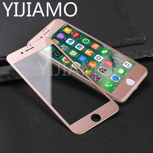 For iphone 8 7 Rose Gold 3d Curved Edge Carbon Fiber Full Cover Screen Protector For