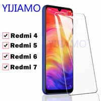 Vidrio protector para Xiaomi película de Redmi 7 vidrio de seguridad Ksio mi Red mi 7 6 4 vidrio templado Xiaomei Xio mi Res mi Re mi note 6 7pro