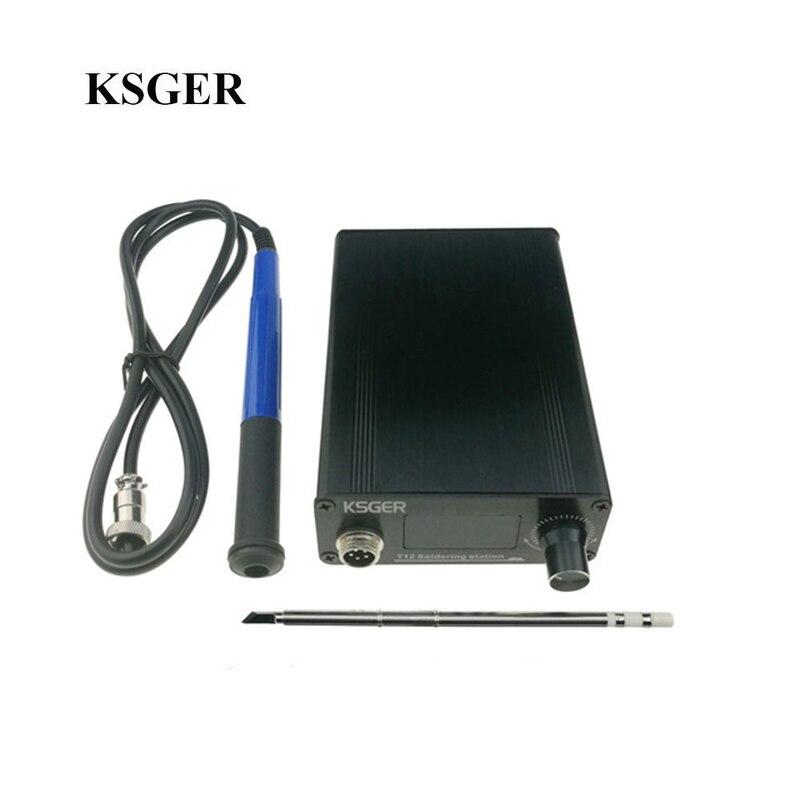 KSGER V2.01 T12 Soldering Station Digital Temperature Controller Electric Solder Soldering Iron Tips T12-K 907 9501 Handle New