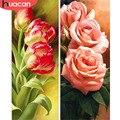 HUACAN diamante bordado flor 5D DIY diamante pintura arte de pared de mosaico pintura ronda completa Cruz puntada arte decoración de costura