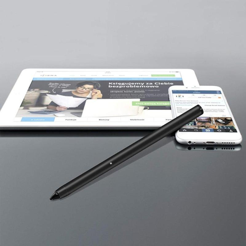 Rechargeable Active 14.2cm Drawing Touch Screen Capacitor Pen For IPad Pro Smart Phone High Hardness Modern Metal Flexible Pen