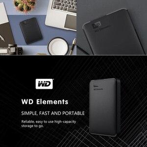 Image 3 - WD العناصر المحمولة قرص صلب خارجي القرص HD 1 تيرا بايت 2 تيرا بايت عالية السعة SATA USB 3.0 جهاز تخزين الأصلي للكمبيوتر المحمول